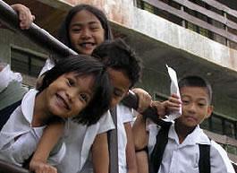 Filipino school children