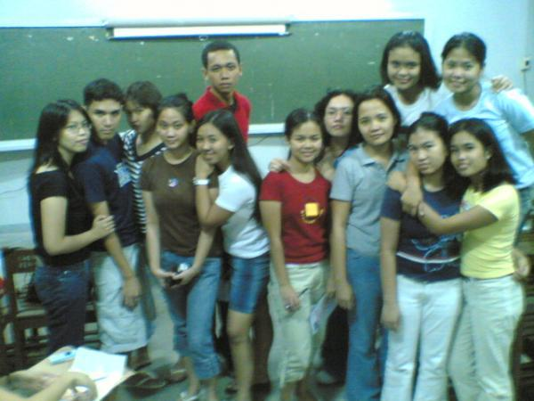After BC 197 class. It was followed by our last Christmas Party; the simplest because we were to busy to hold it in OWL and the corresponding preparation of food (the batch's forte)