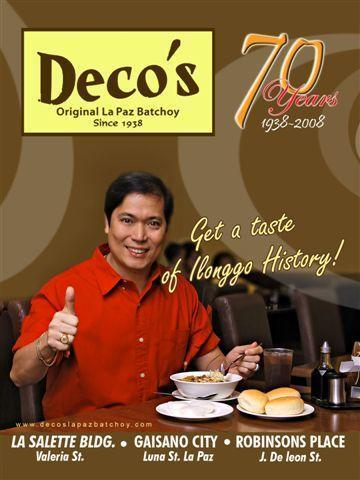 Iloilo vice mayor, Jed Mabilog, endorsing a brand of batchoy in Iloilo City