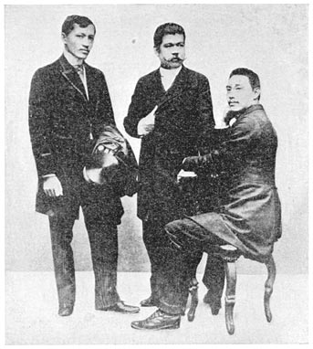 Jose Rizal, Marcelo del Pilar, Mariano Ponce