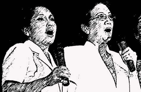 Gloria Arroyo and Cory Aquino