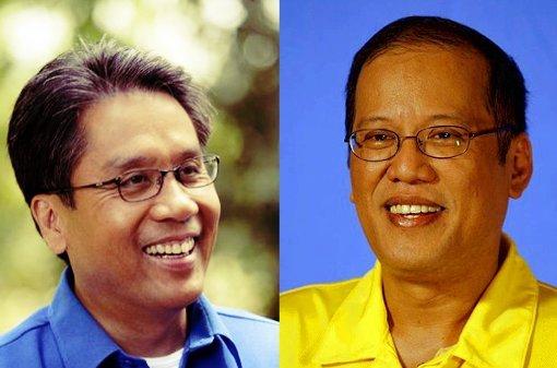 Mar Roxas and Noynoy Aquino