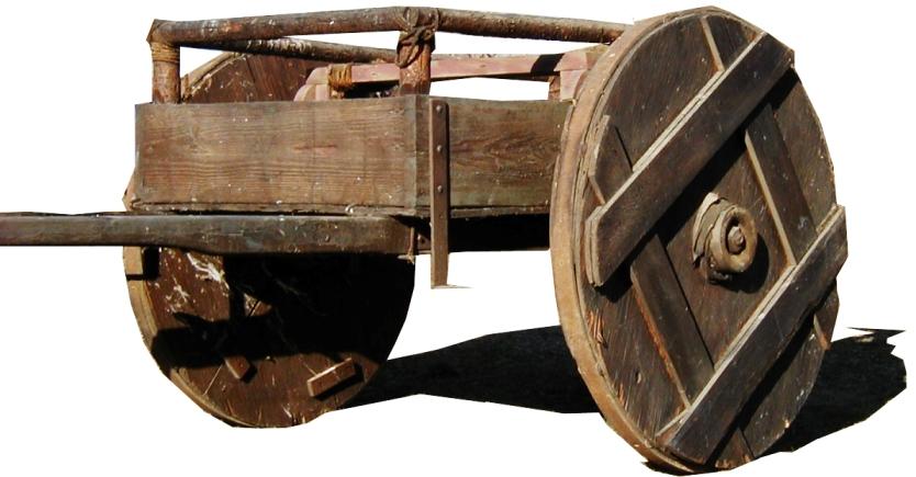 wood push cart 2